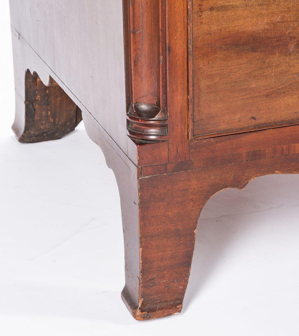 Lot 129: Philadelphia Slant Front Desk, Signed and Dated 1812, Joseph Lyndall