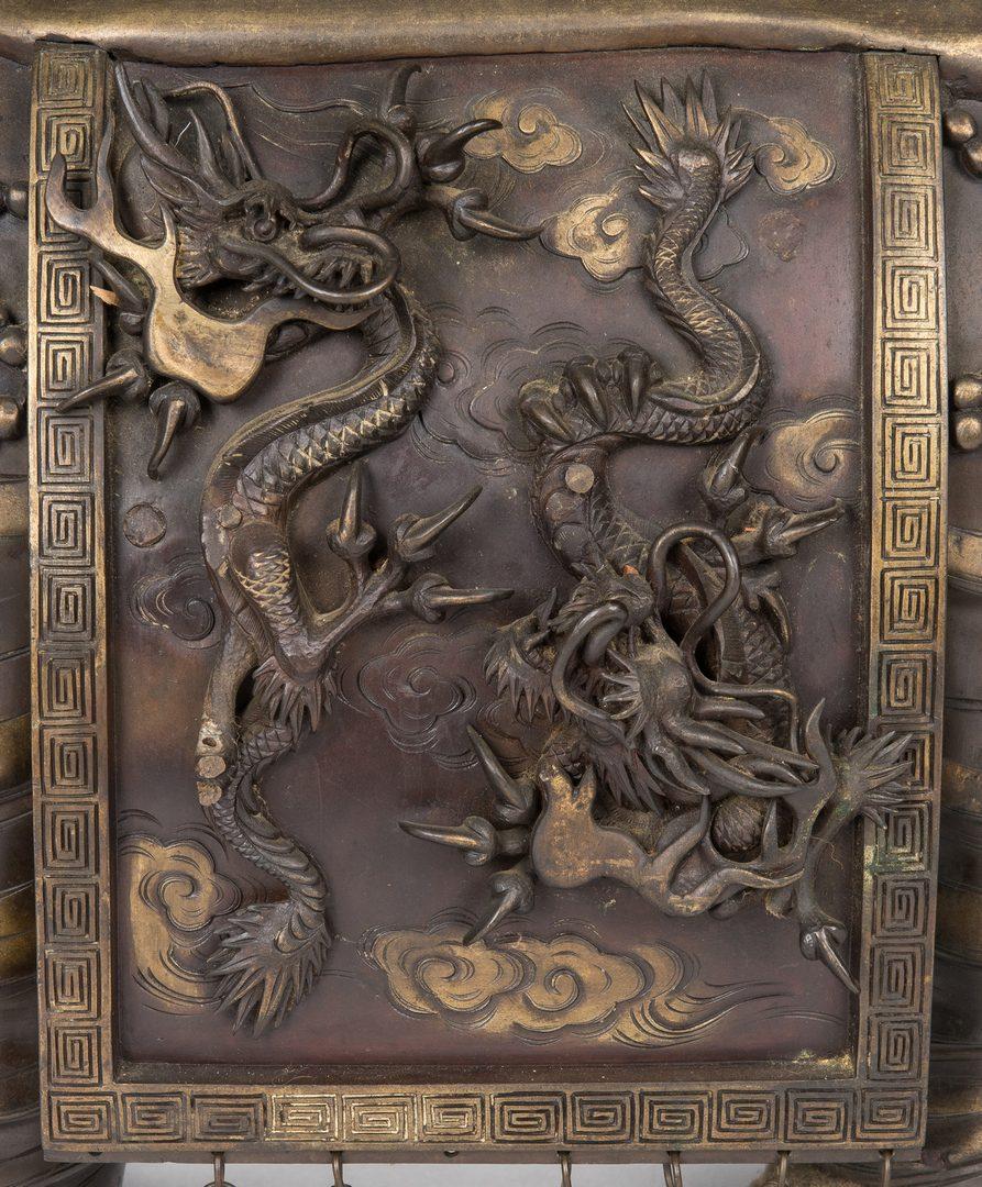 Lot 12: Japanese Bronze Elephant Pagoda Incense Burner