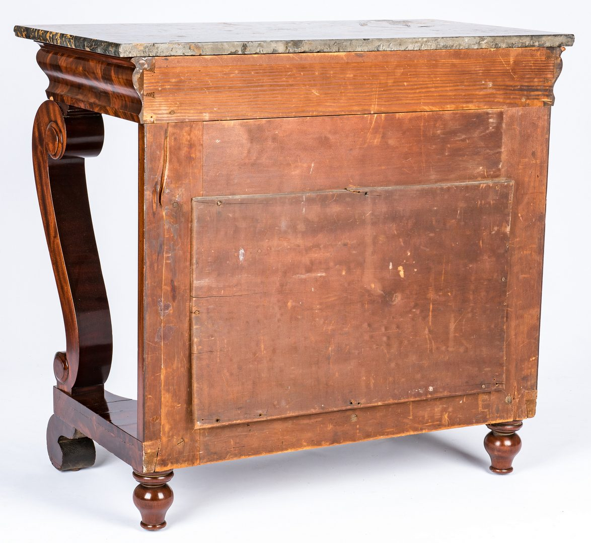 Lot 131: Signed Baltimore Marble Topped Pier Table