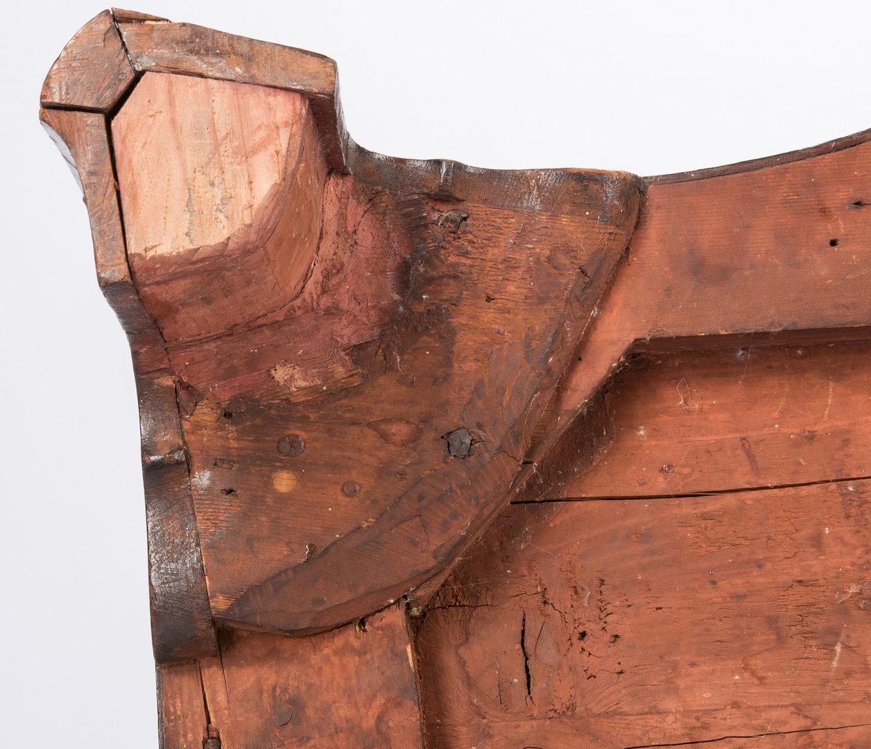 Lot 133: Inlaid Chest 2 of 2, Norfolk VA or British, Inlaid Feet