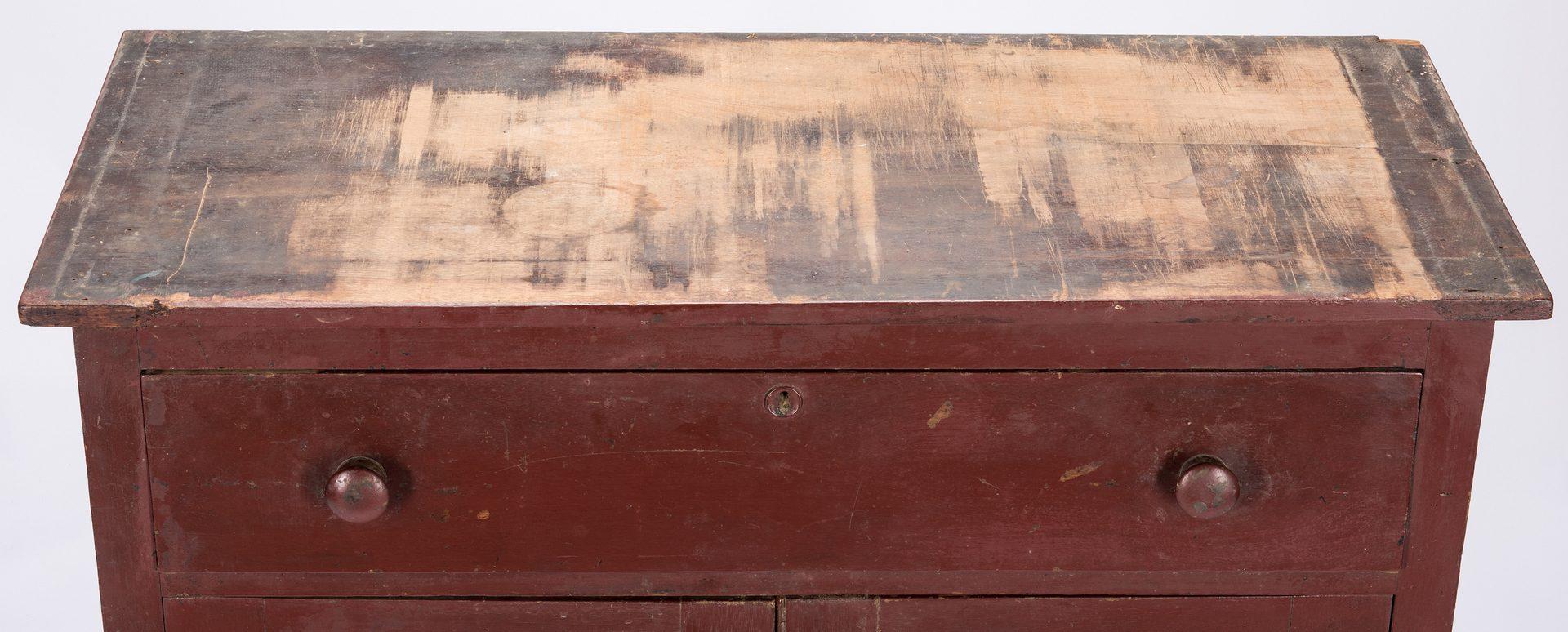 Lot 139: SW Virginia Painted Pie Safe, Eagle Tins