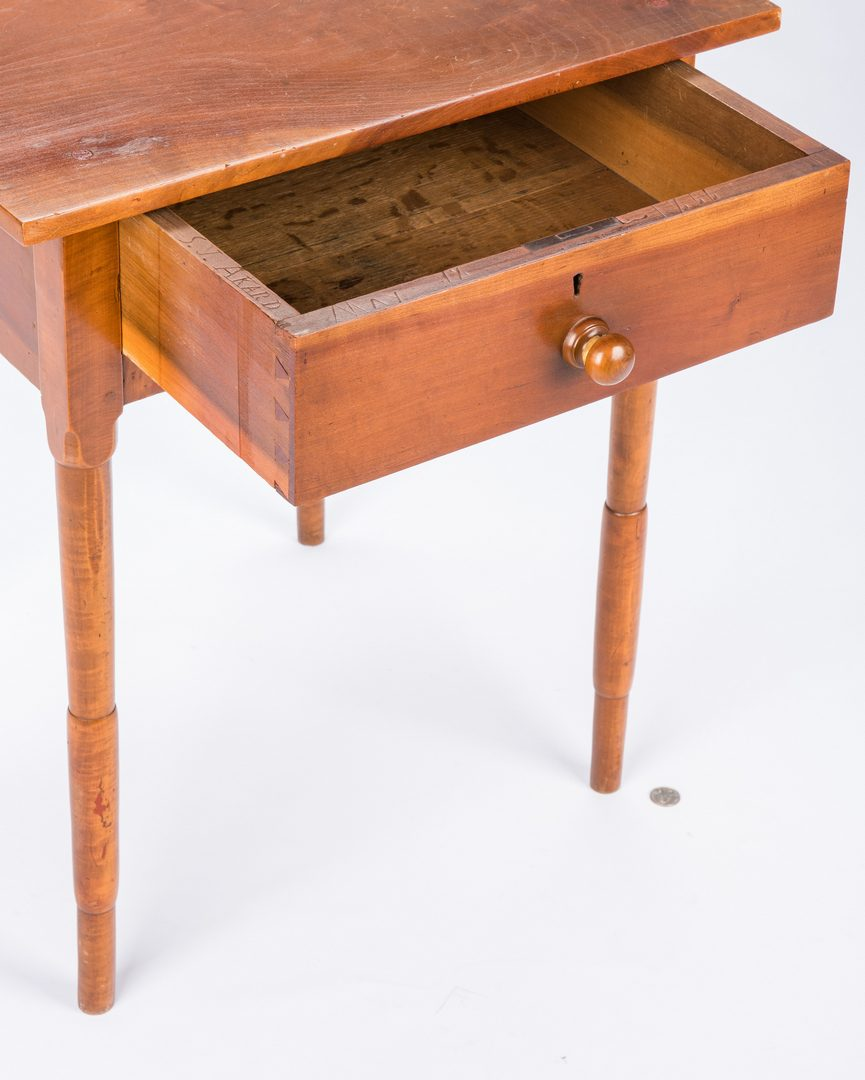 Lot 143: Signed & Dated East Tennessee One Drawer Stand
