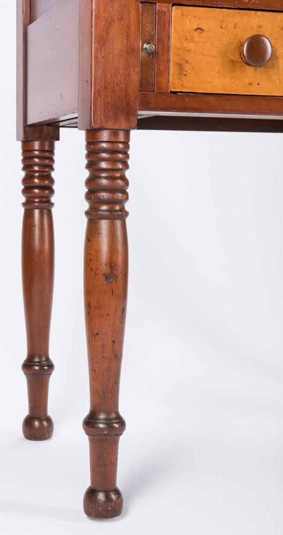 Lot 144: East TN Burgner Sheraton Desk, Figured Maple & Cherry