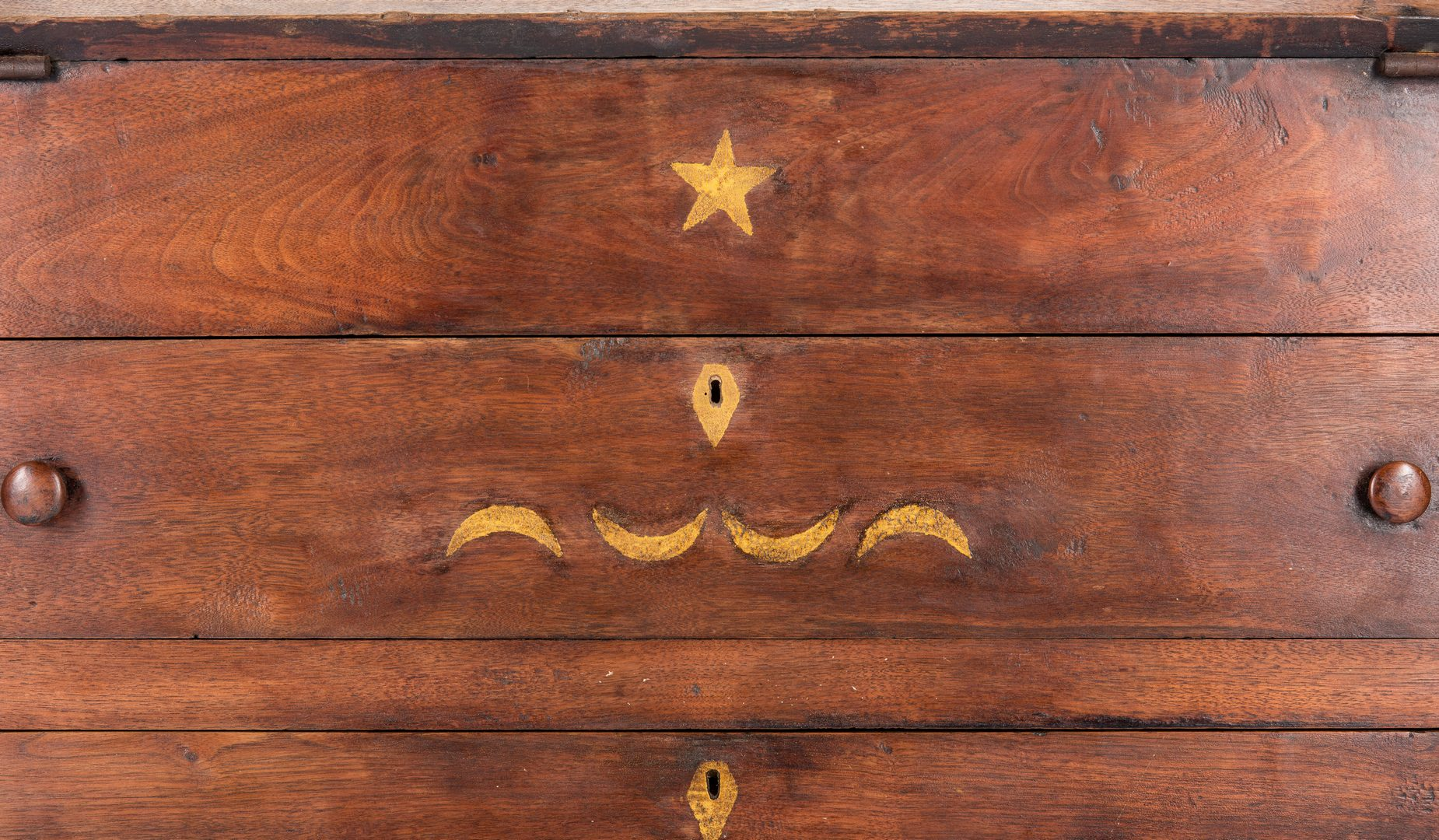 Lot 145: East TN Paint Decorated Child's Desk, Boozy Creek