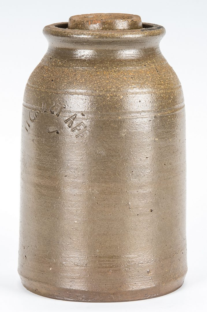 Lot 148: East TN William Grindstaff Stamped Jar