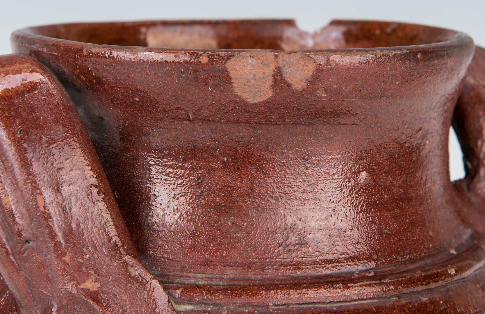 Lot 154: East Tennessee or SW VA Earthenware Jar, poss. Cain, Exhibited