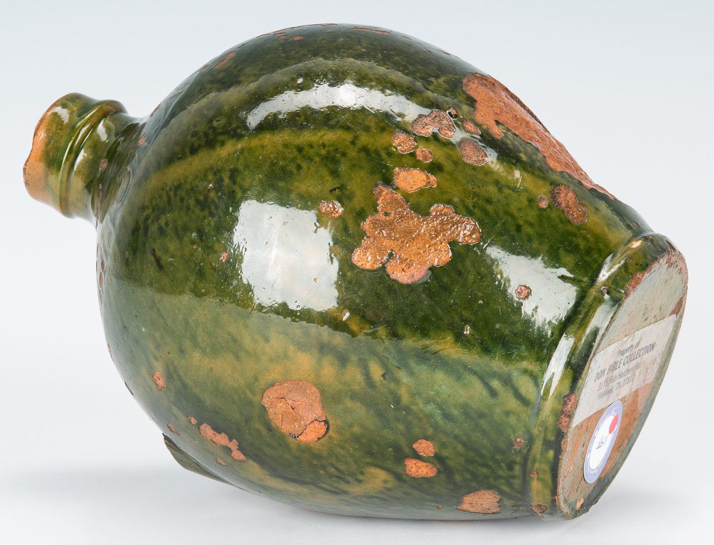 Lot 156: C A Haun Redware Pottery Jug, Greene County, TN