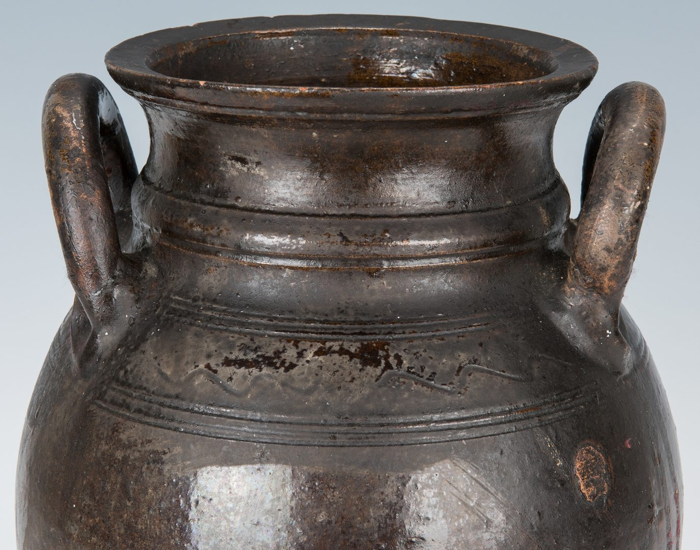 Lot 158: Southwest VA Earthenware Lead-Glazed Jar