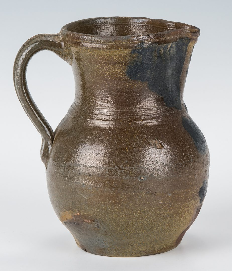 Lot 159: Southwest VA Stoneware Pitcher, Cobalt Decoration, Exhibited