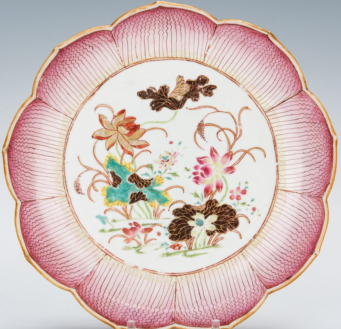 Lot 15: Chinese Export Porcelain Lotus Dish