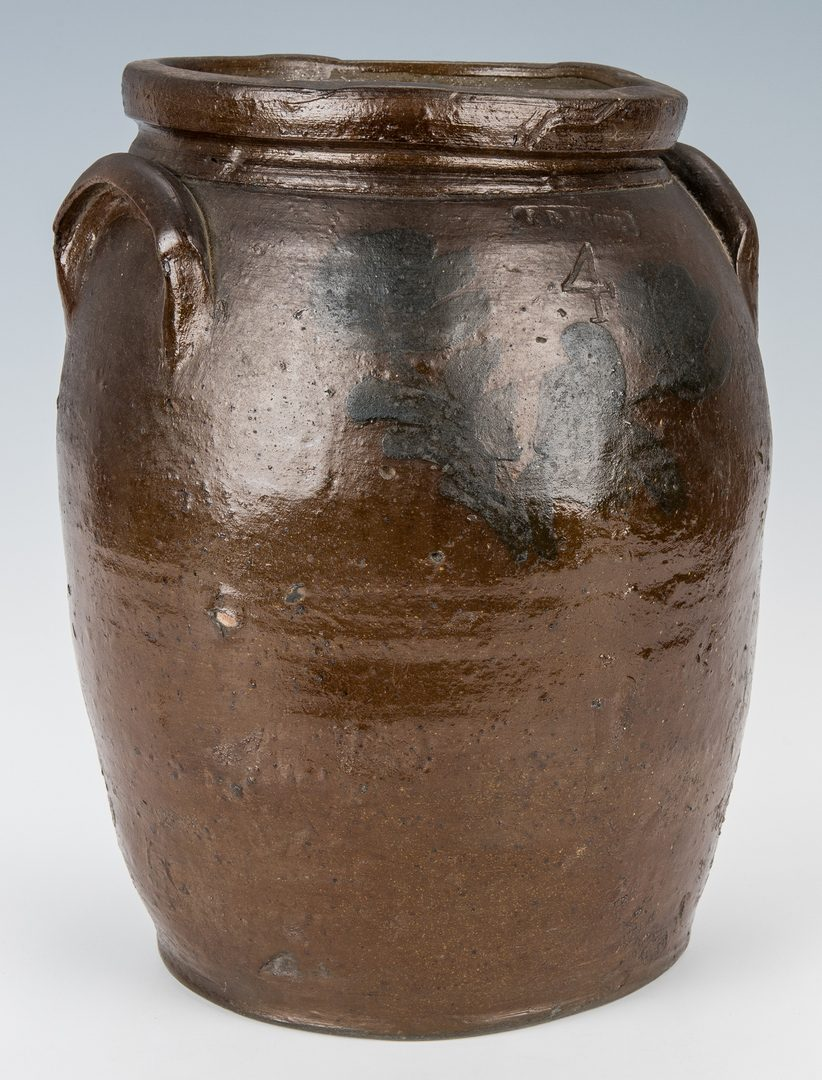 Lot 162: Southwest VA J. B. Magee Stoneware Jar w/ Cobalt, Exhibited