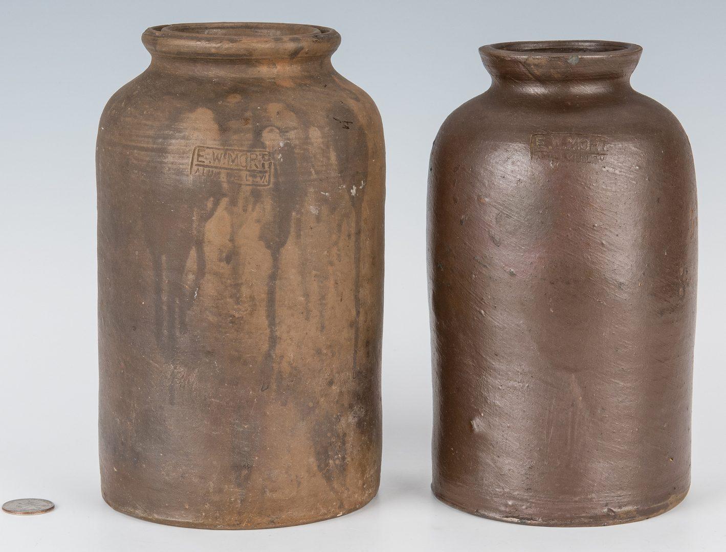 Lot 163: 2 Southwest VA Preserving Jars, E. W. Mort, Exhibited