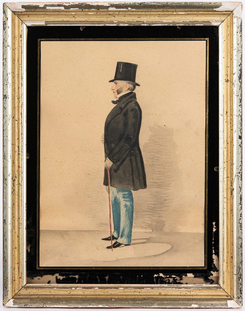 Lot 165: 2 W/C Portraits of 19th Cent. Men, incl. Gen. Macomb