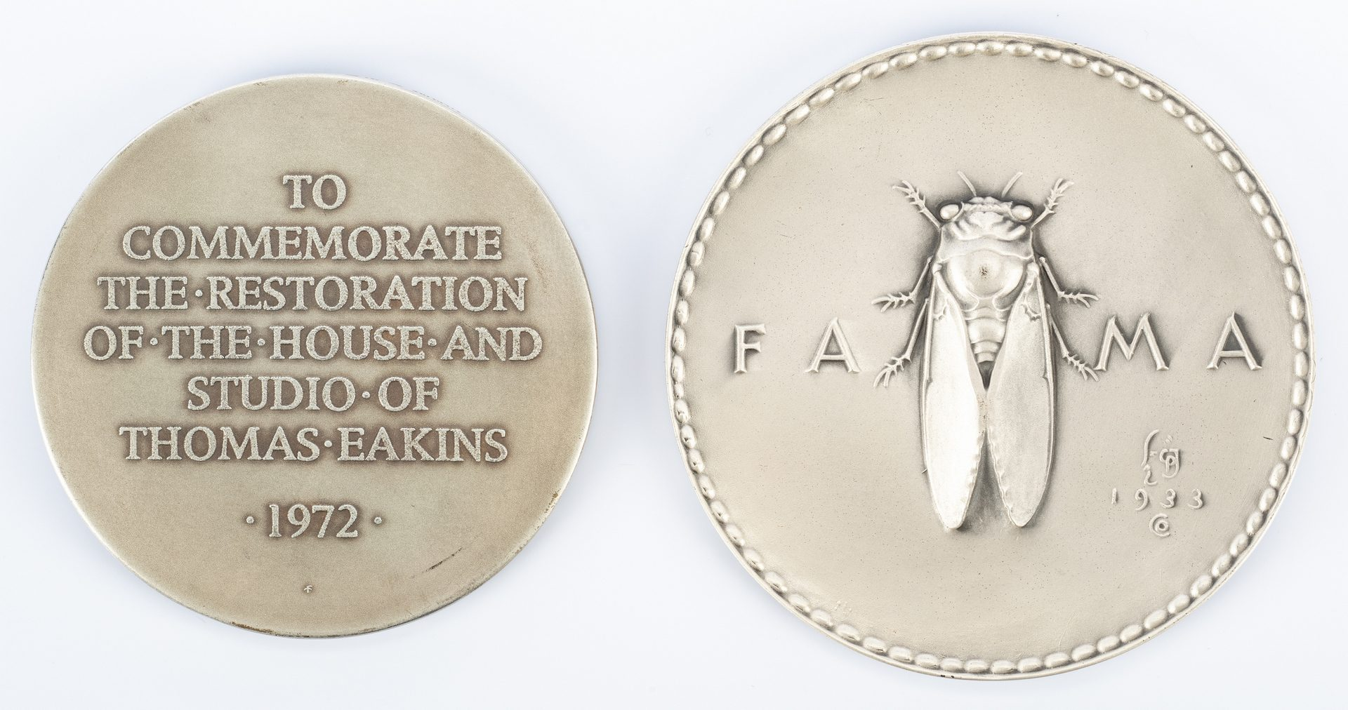 Lot 167: Two (2)Society of Medalists Silver Medals, 20th Cent.