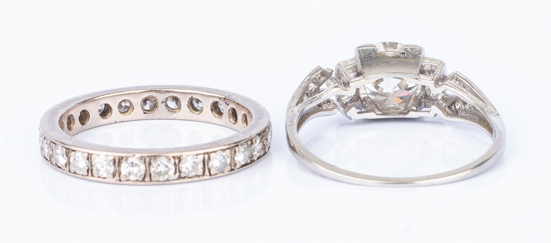 Lot 177: Diamond Ring and Eternity Band
