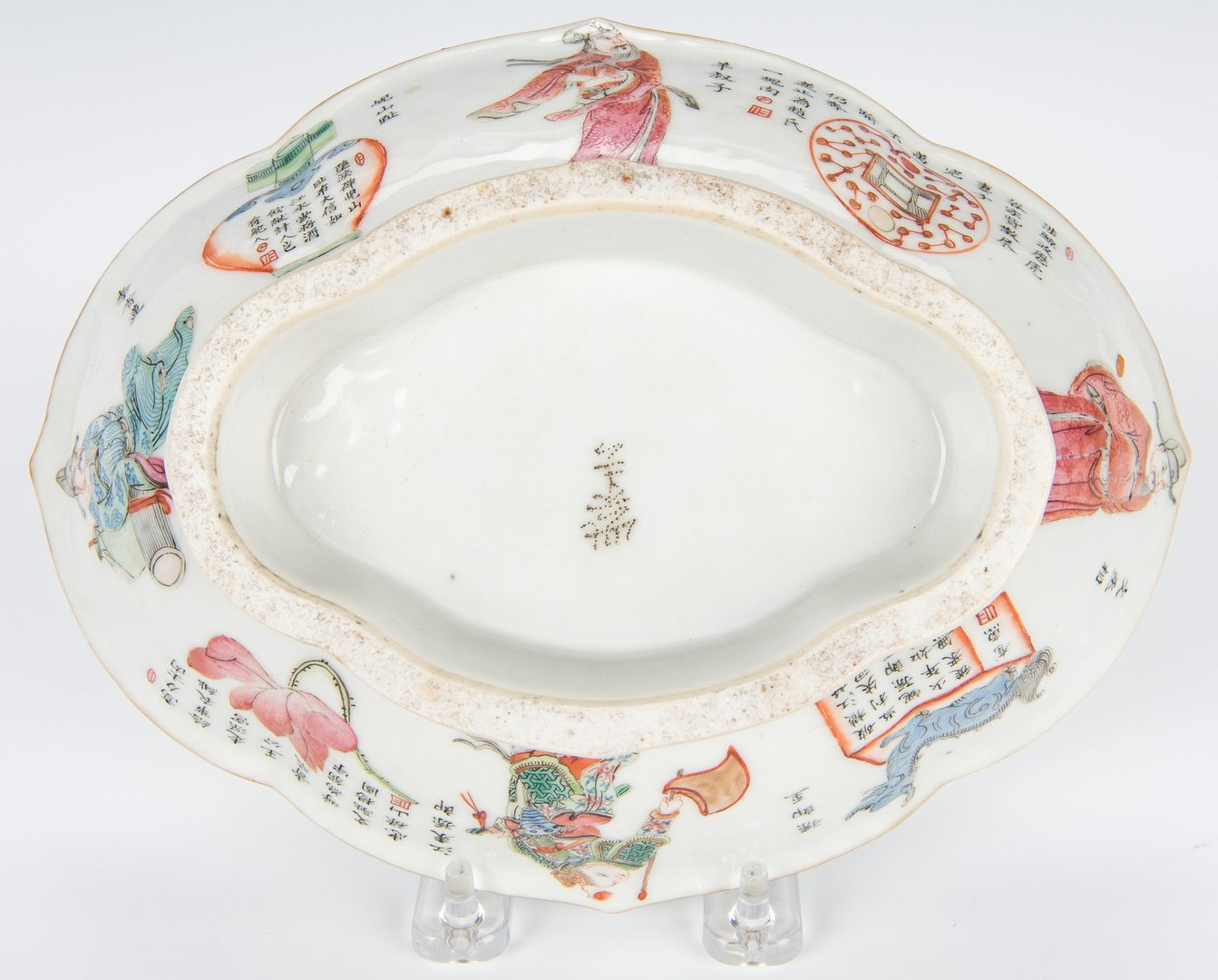 Lot 17: 3 Chinese Famille Rose Lozenge Shaped Porcelain Dishes