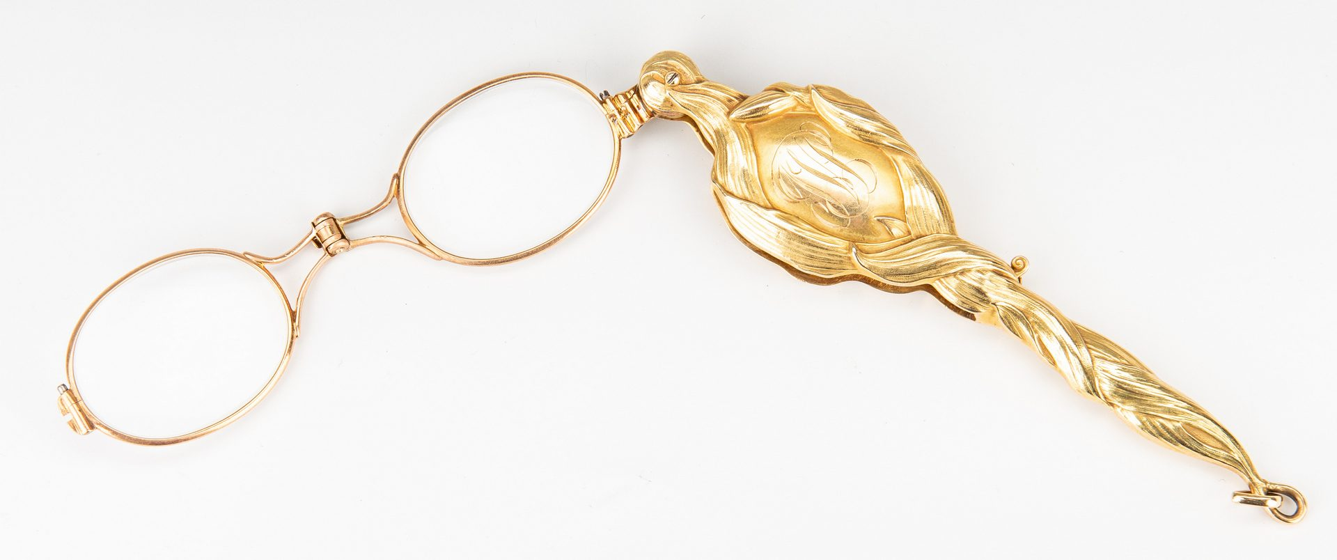 Lot 182: Art Nouveau Gold Lorgnette
