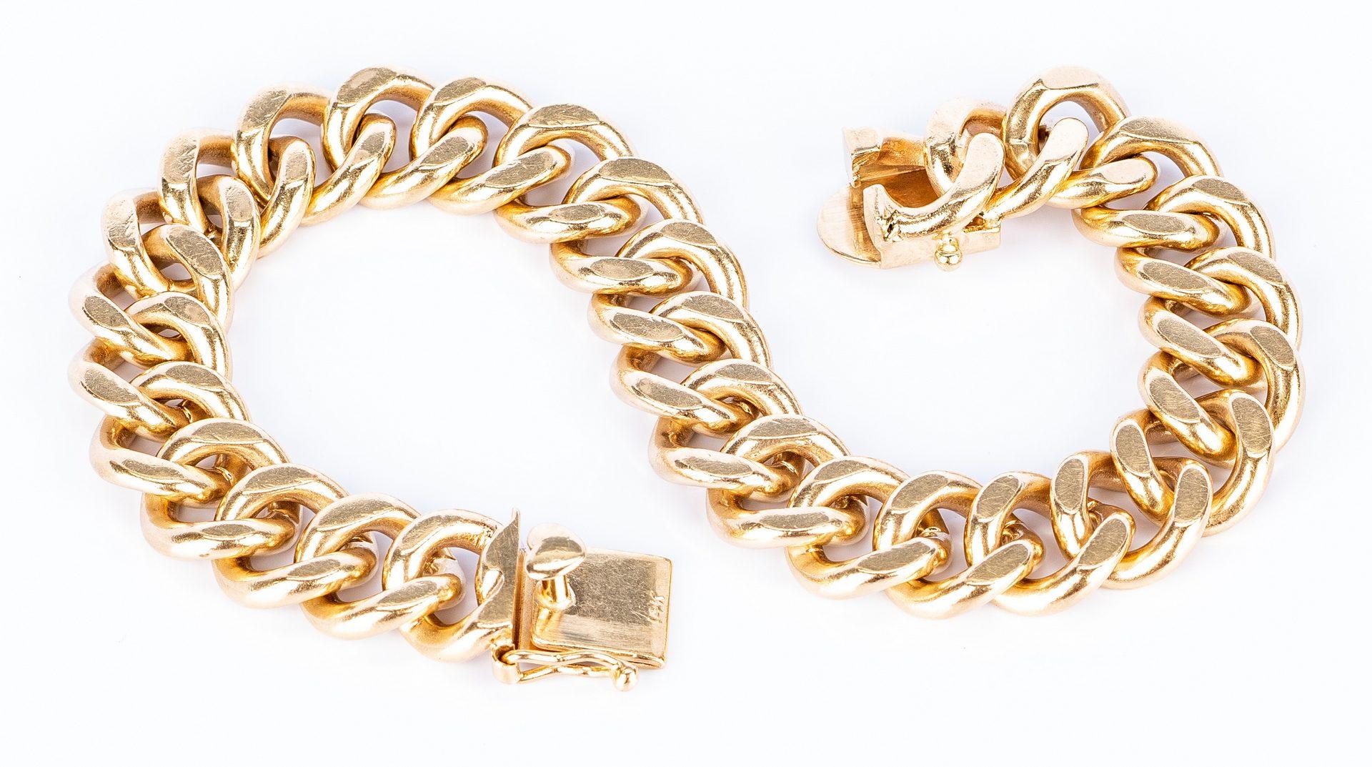 Lot 185: 14K Heavy Link Bracelet, 51 grams