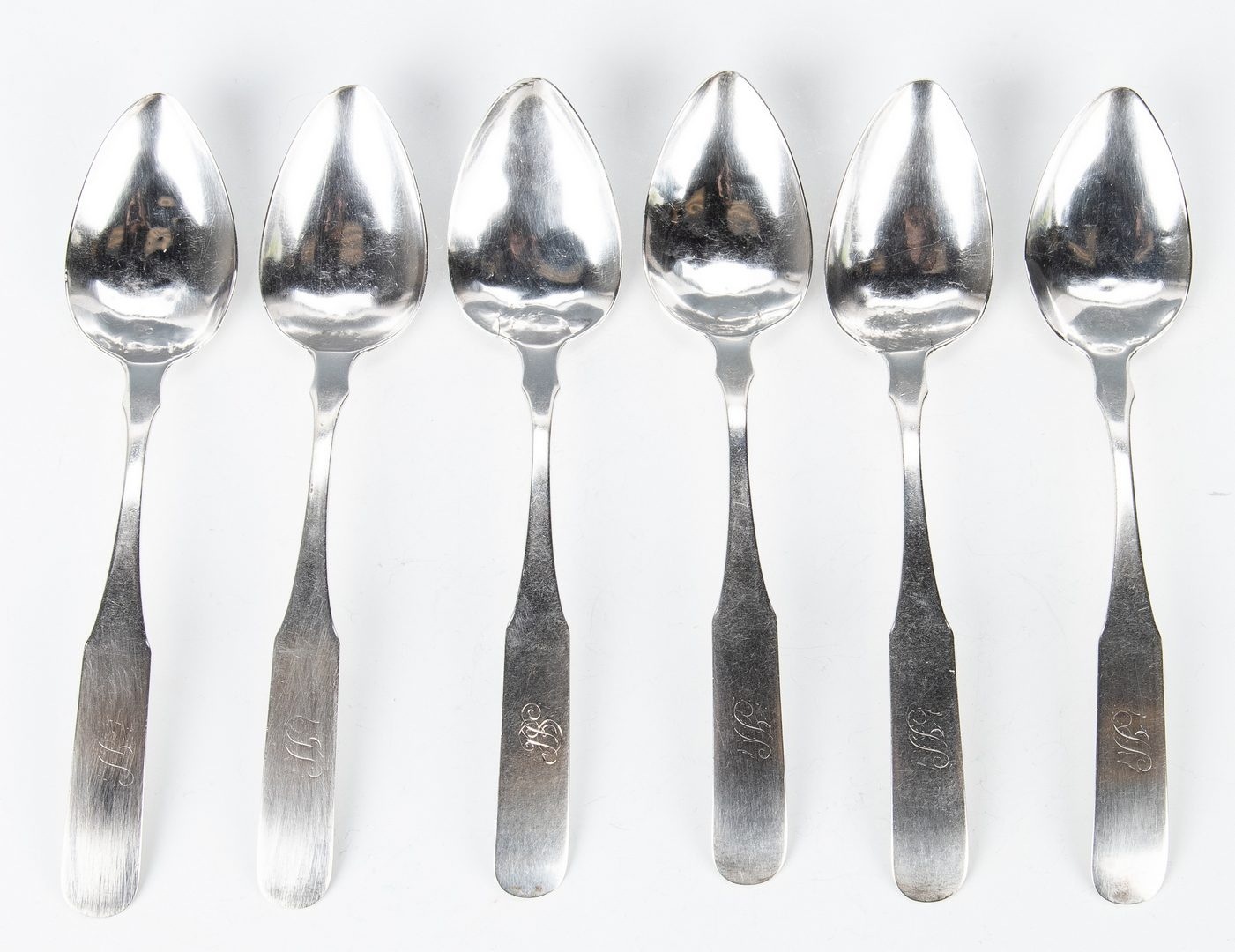 Lot 188: 11 TN Coin Silver Spoons, Samuel Bell and Atkinson & Boyce