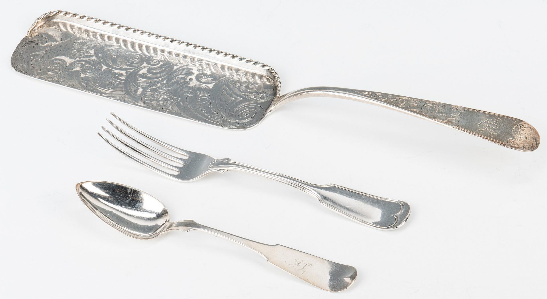 Lot 189: Coin Silver incl. Kirk Crumber, KY spoons