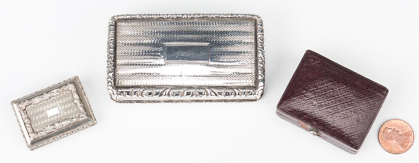 Lot 194: Nathaniel Mills Vinaigrette and Snuff Box