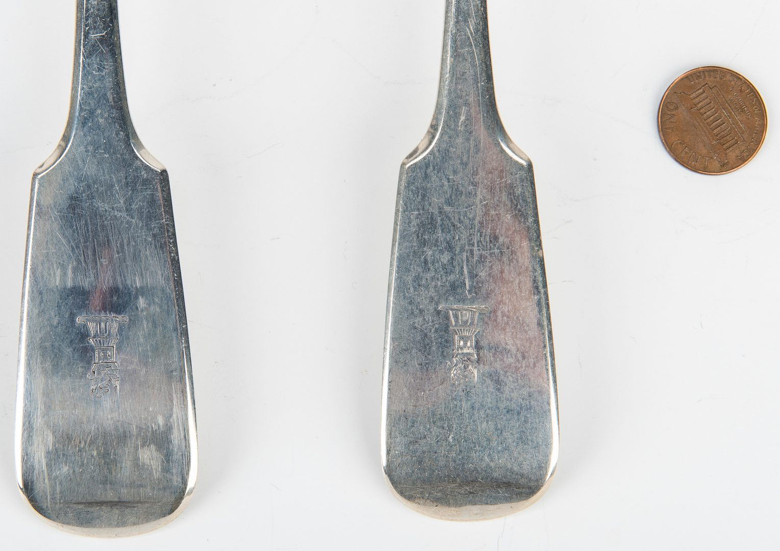 Lot 197: 7 British Serving Pieces, incl. Cheese Scoop