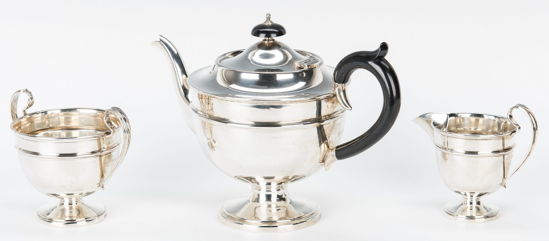 Lot 201: George V Sterling Tea Service, 3 pcs.
