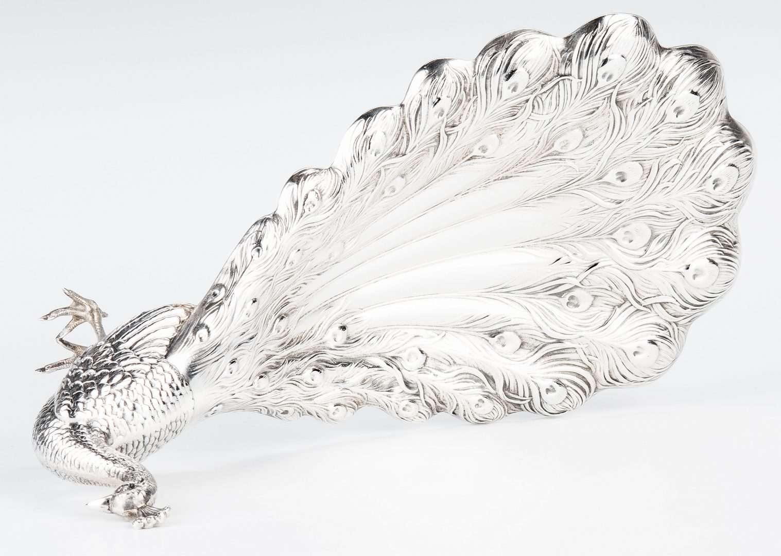 Lot 203: Silver Peacock Dish, Billiard Trophy and Sugar Bowl