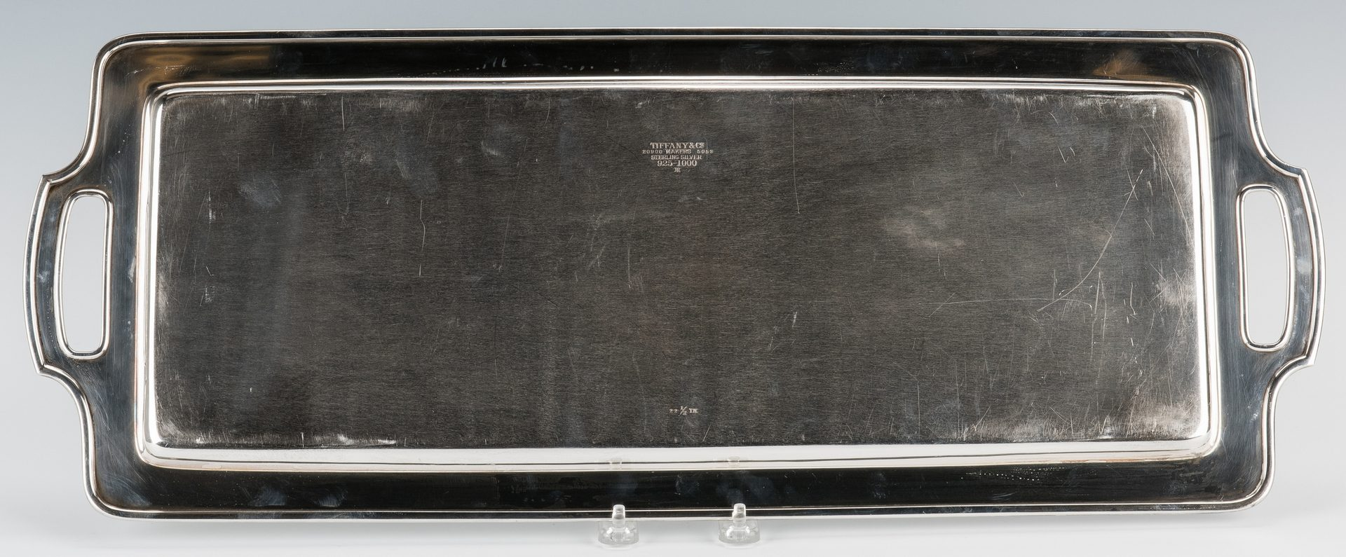 Lot 205: Large Tiffany & Co. Sterling Serving Tray