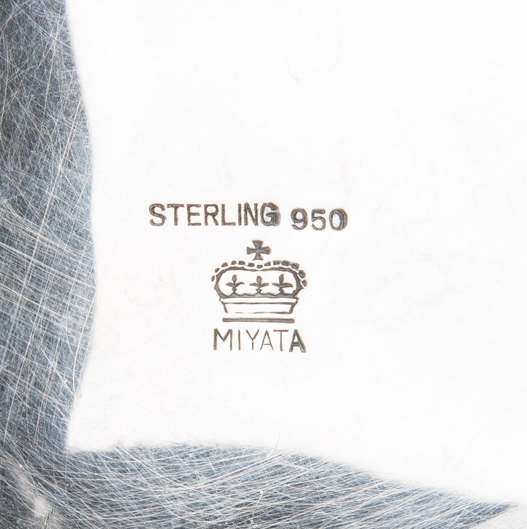 Lot 206: Japanese .950 Silver Miyata Coffee & Tea Service, 4 pcs. w/ S/P Tray
