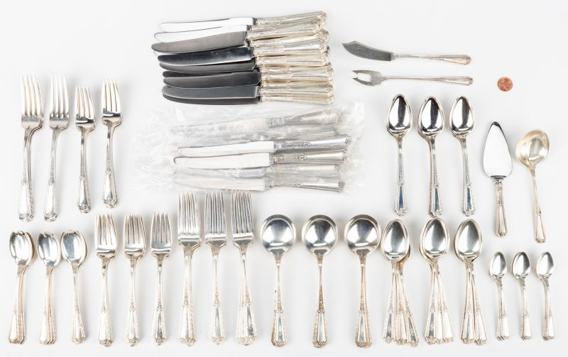 Lot 210: Towle Louis XIV Sterling Flatware, 122 pcs