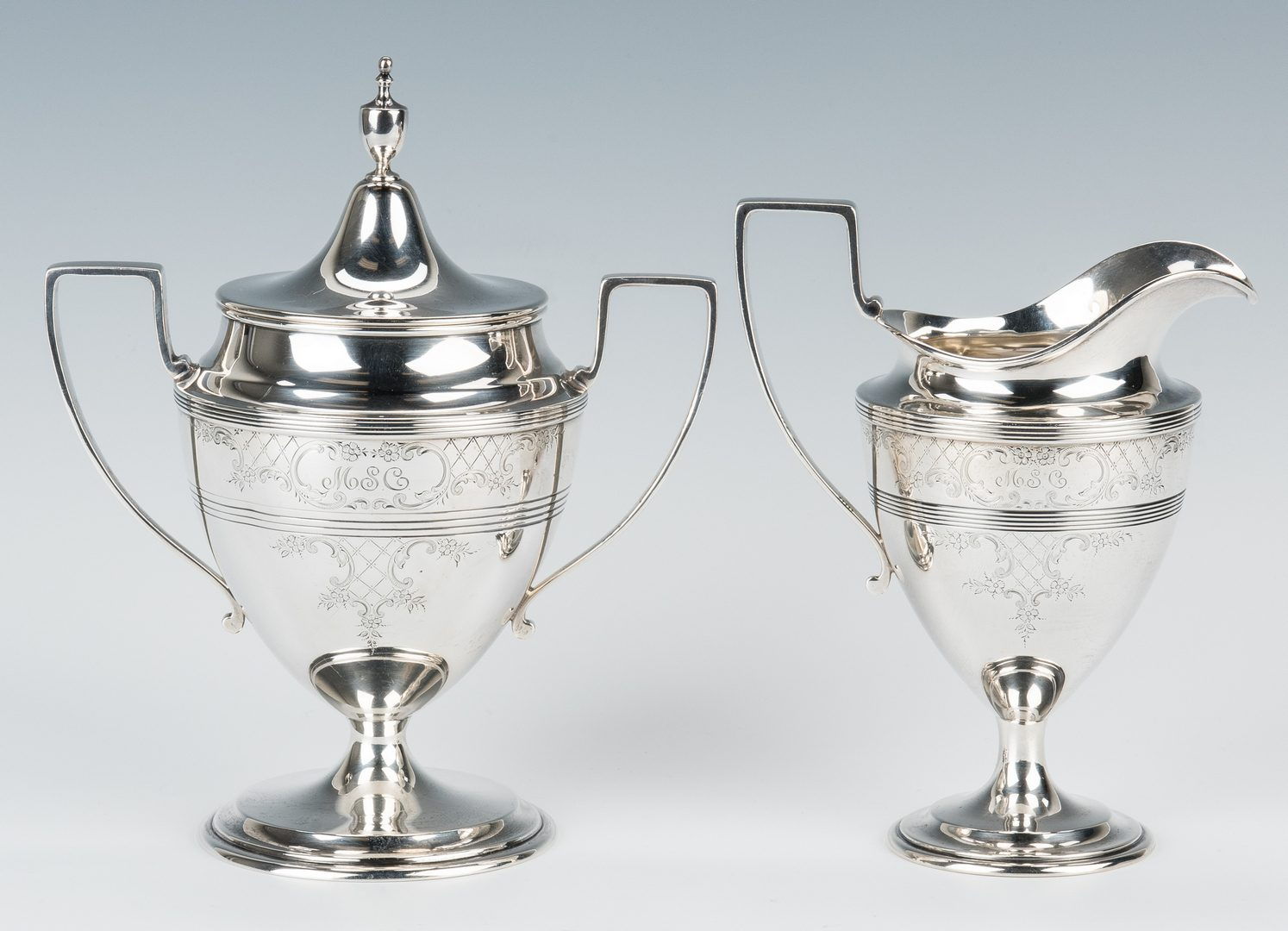 Lot 212: 4 Pc. American Sterling Tea Service