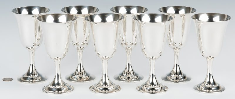 Lot 213: 8 International Lord Saybrooke Sterling Goblets