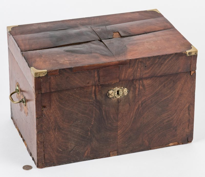 Lot 215: 19th Cent. Sea Captain's Liquor Chest