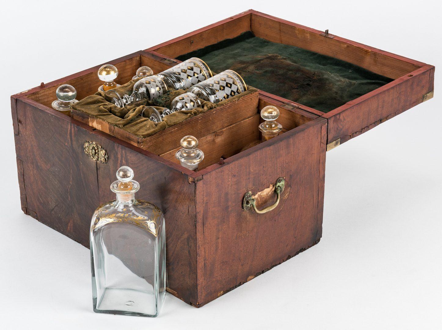 Lot 215: 19th Cent. Sea Captain's Liquor Chest