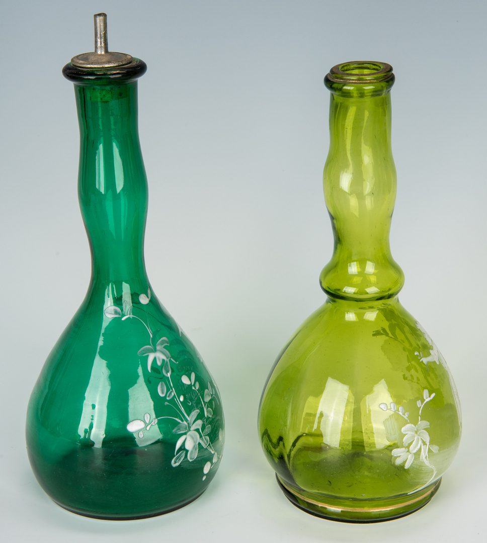 Lot 220: 16 Assorted Glass Barber Bottles, incl. Mary Gregory