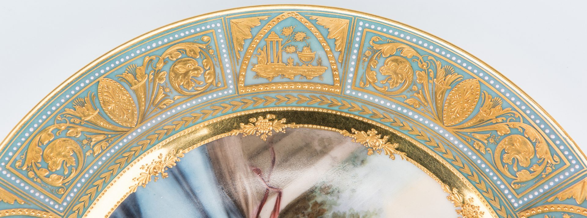"""Lot 223: Royal Vienna Porcelain Cabinet Plate signed Wagner, """"Taste"""""""