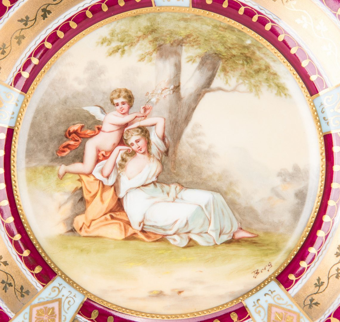 Lot 226: Pr. Royal Vienna Cabinet Plates, Berg and Bauer