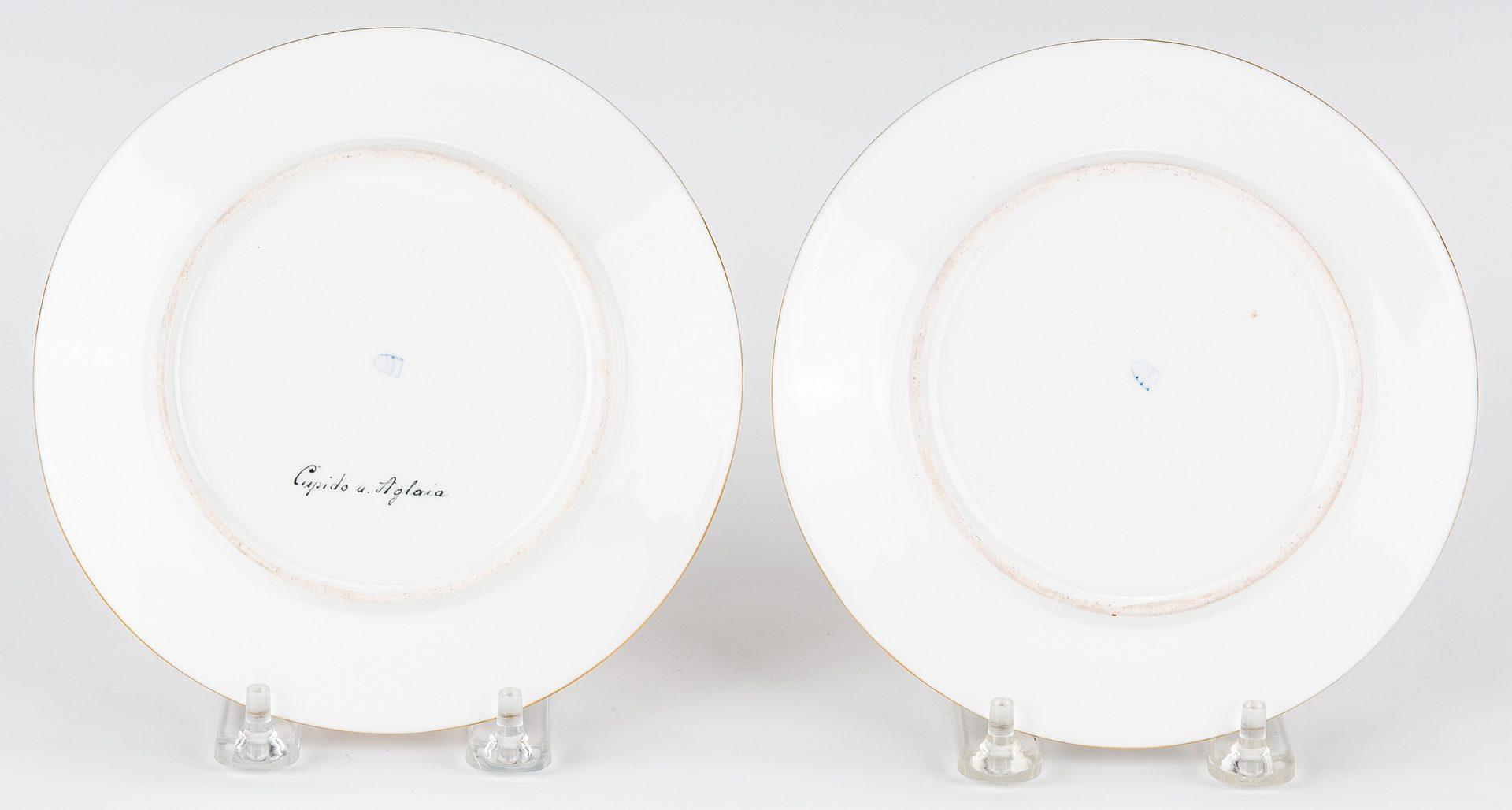 Lot 227: Pr. Royal Vienna Cabinet Plates, signed Bauer
