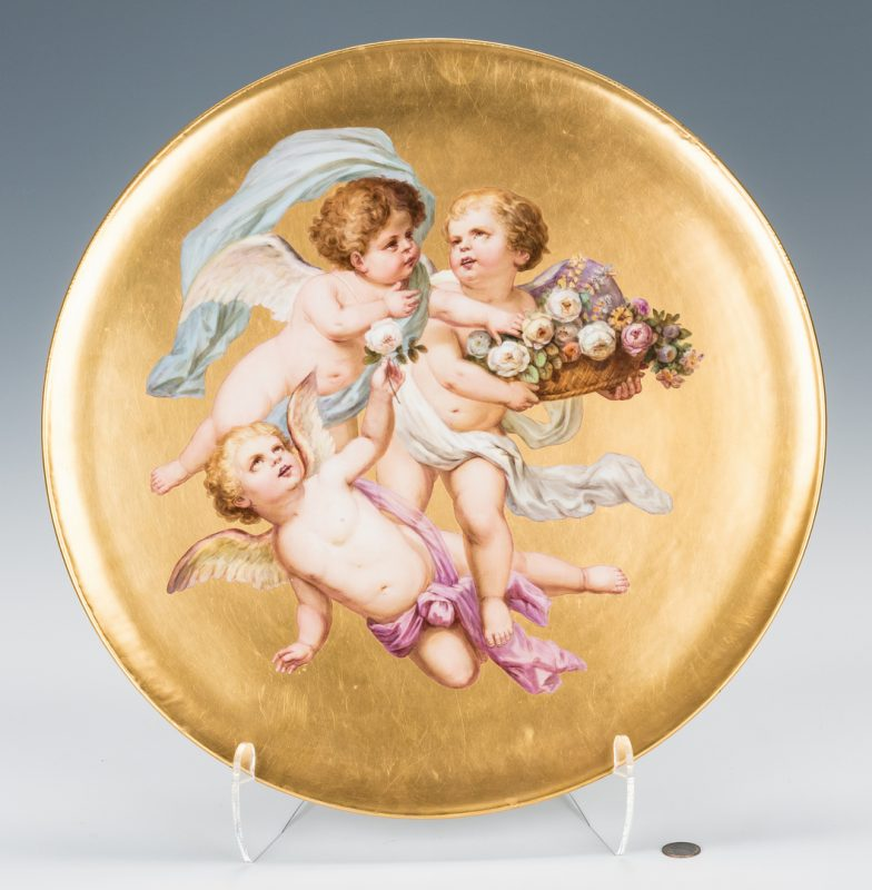 Lot 229: Large Circular Royal Vienna Porcelain Plaque