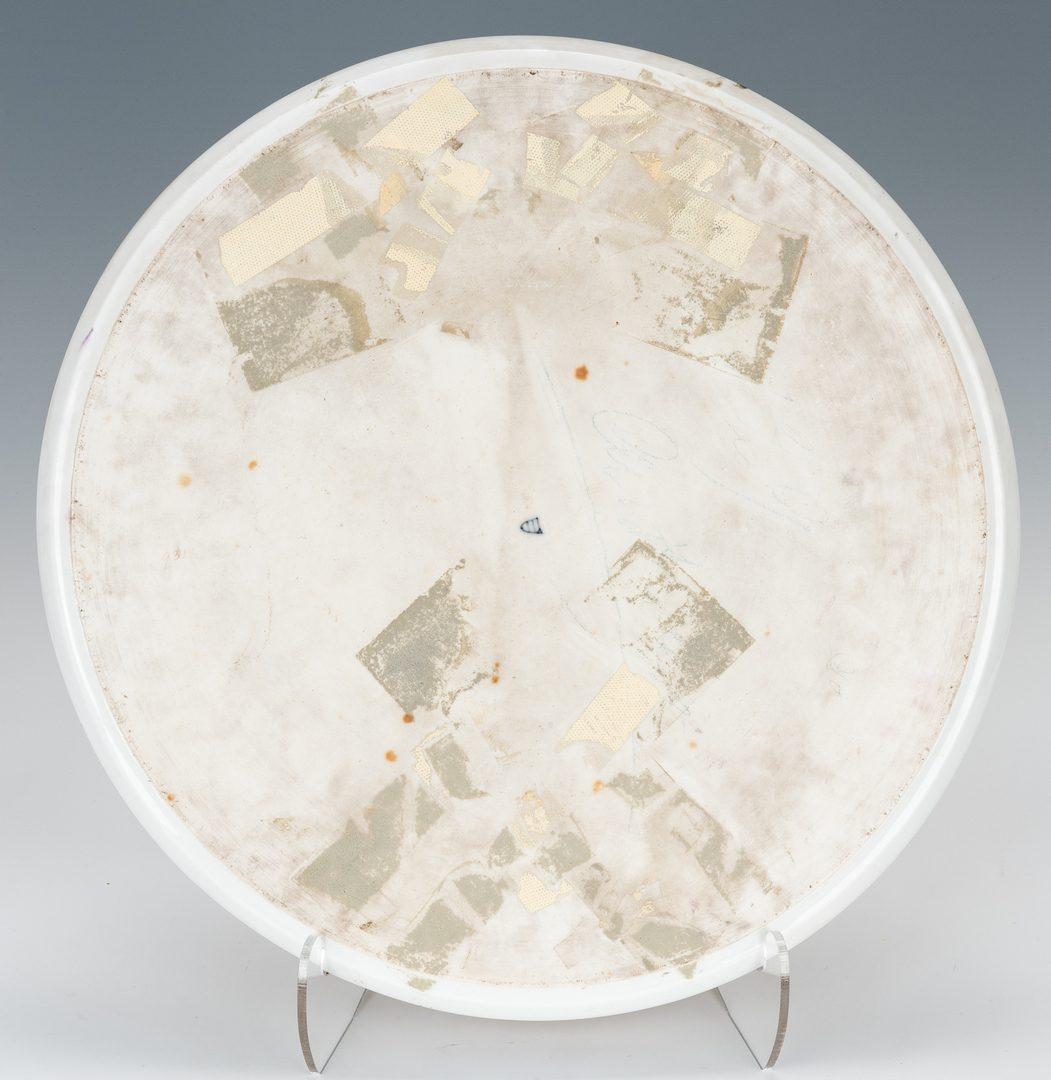 Lot 229: Large Circular Royal Vienna Porcelain Plaque