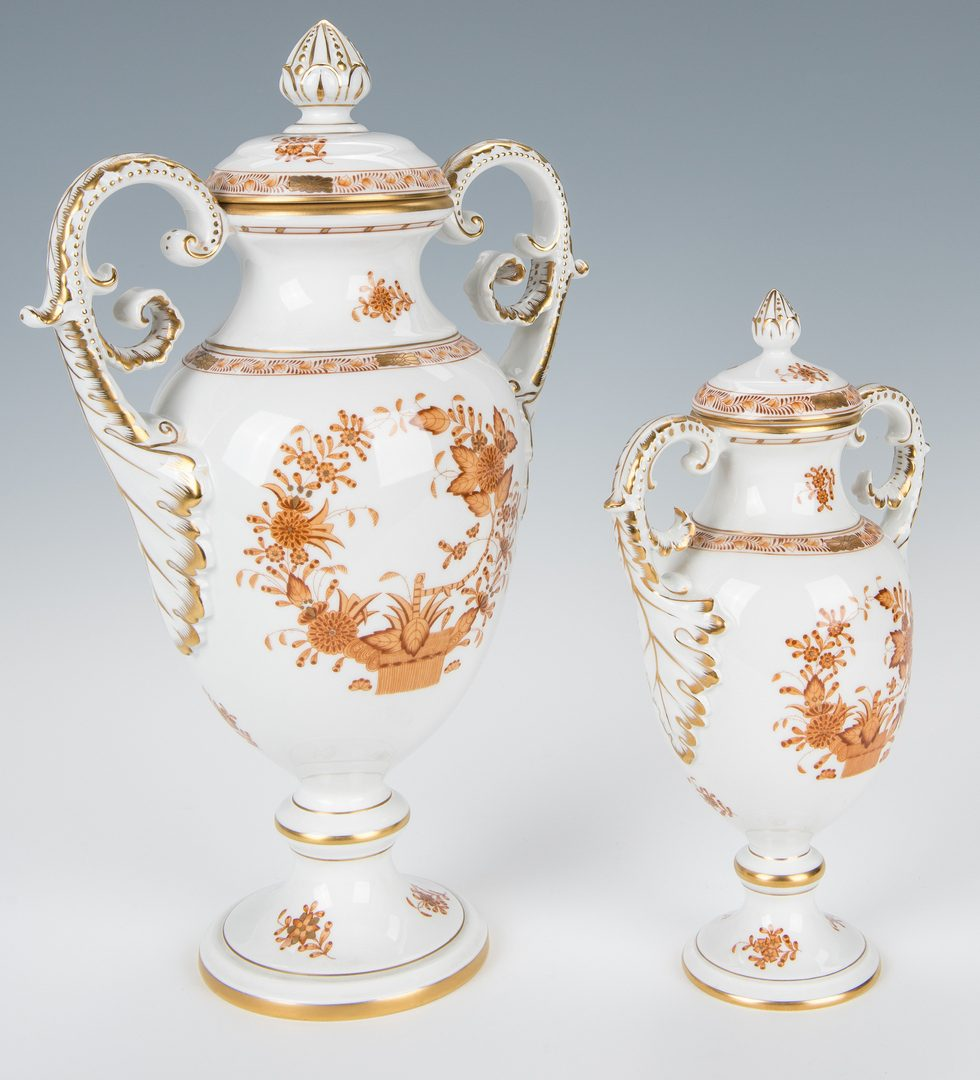 Lot 233: Set of 3 Herend Lidded Urns, Chinese Bouquet