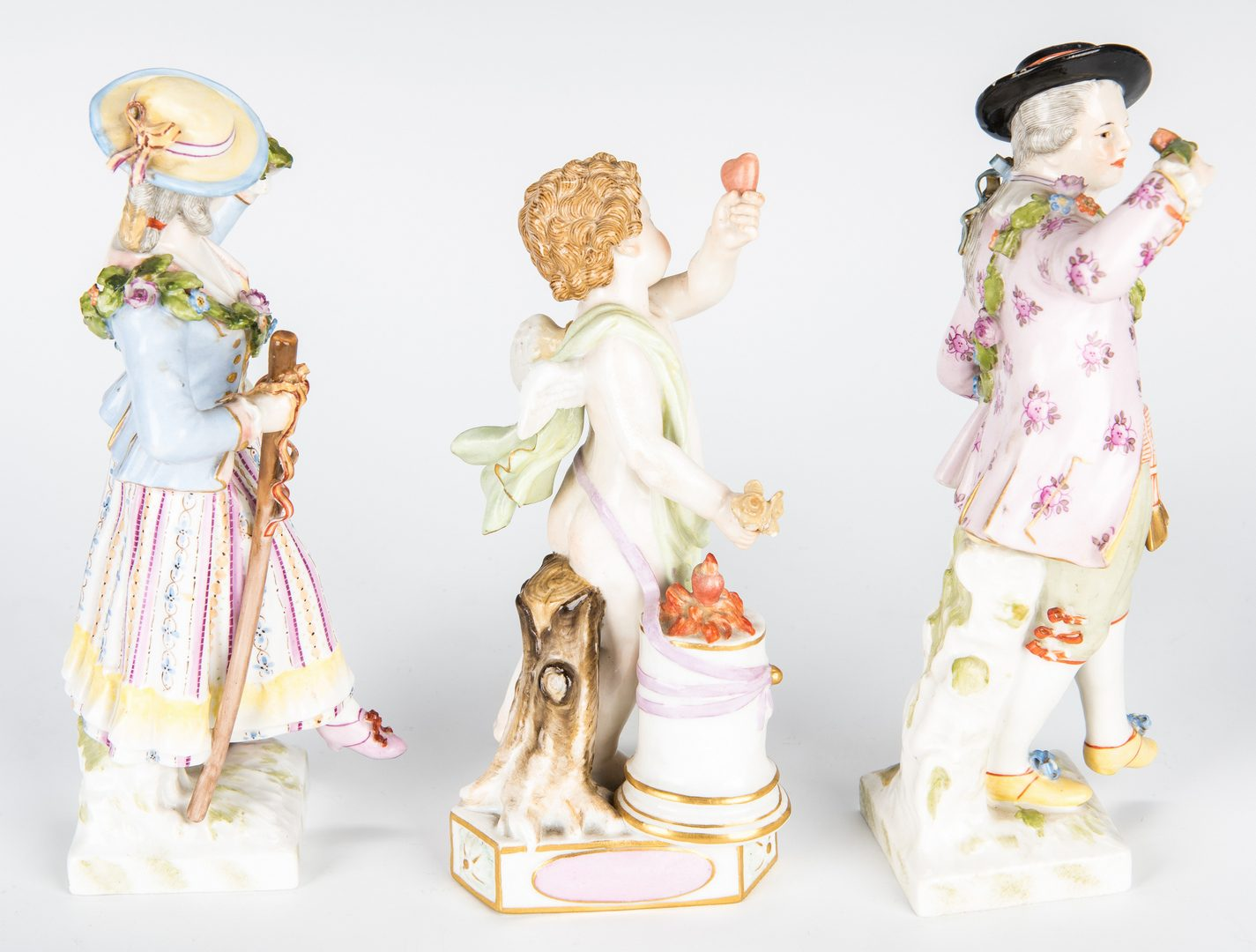 Lot 238: 7 Porcelain Figurines, incl. Meissen, Royal Copenhagen