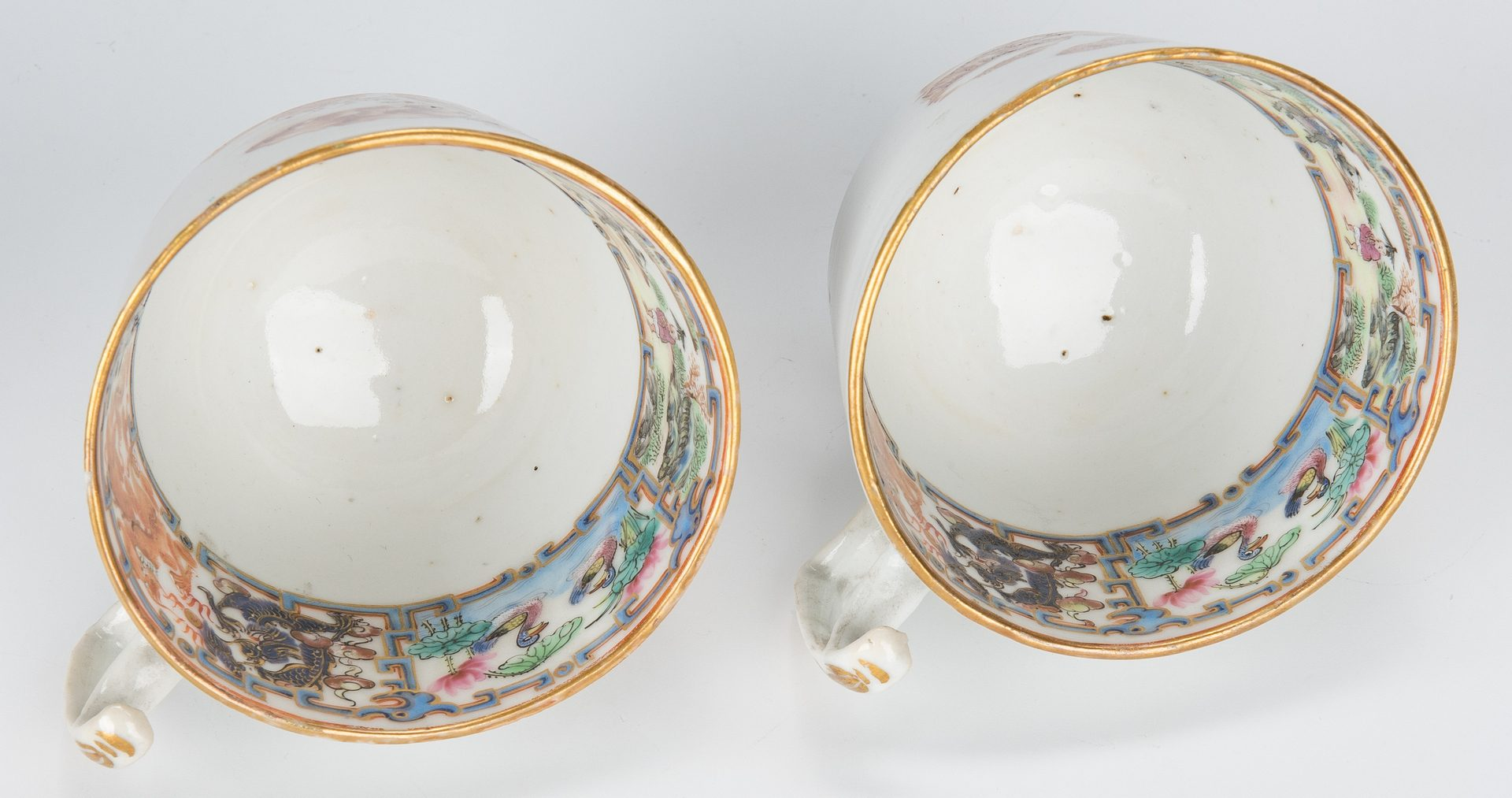 Lot 23: 16 pcs Chinese Export Porcelain, 16 pcs incl. Baskets