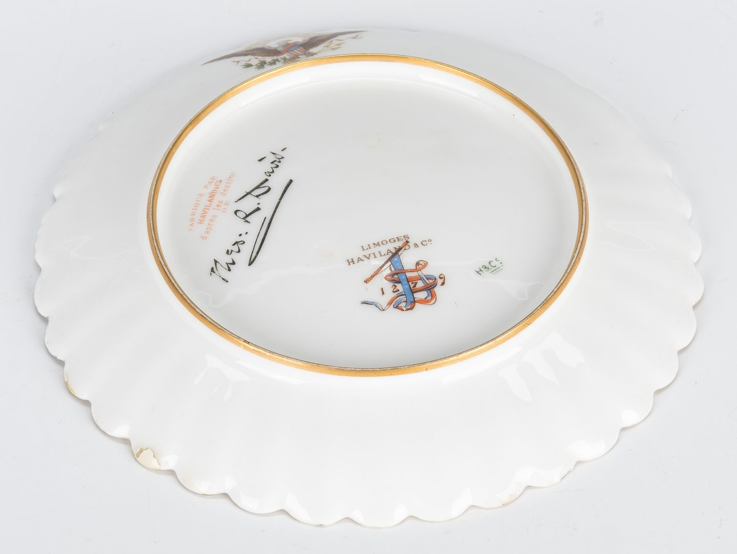 Lot 240: Rutherford B. Hayes White House China Fish Plate