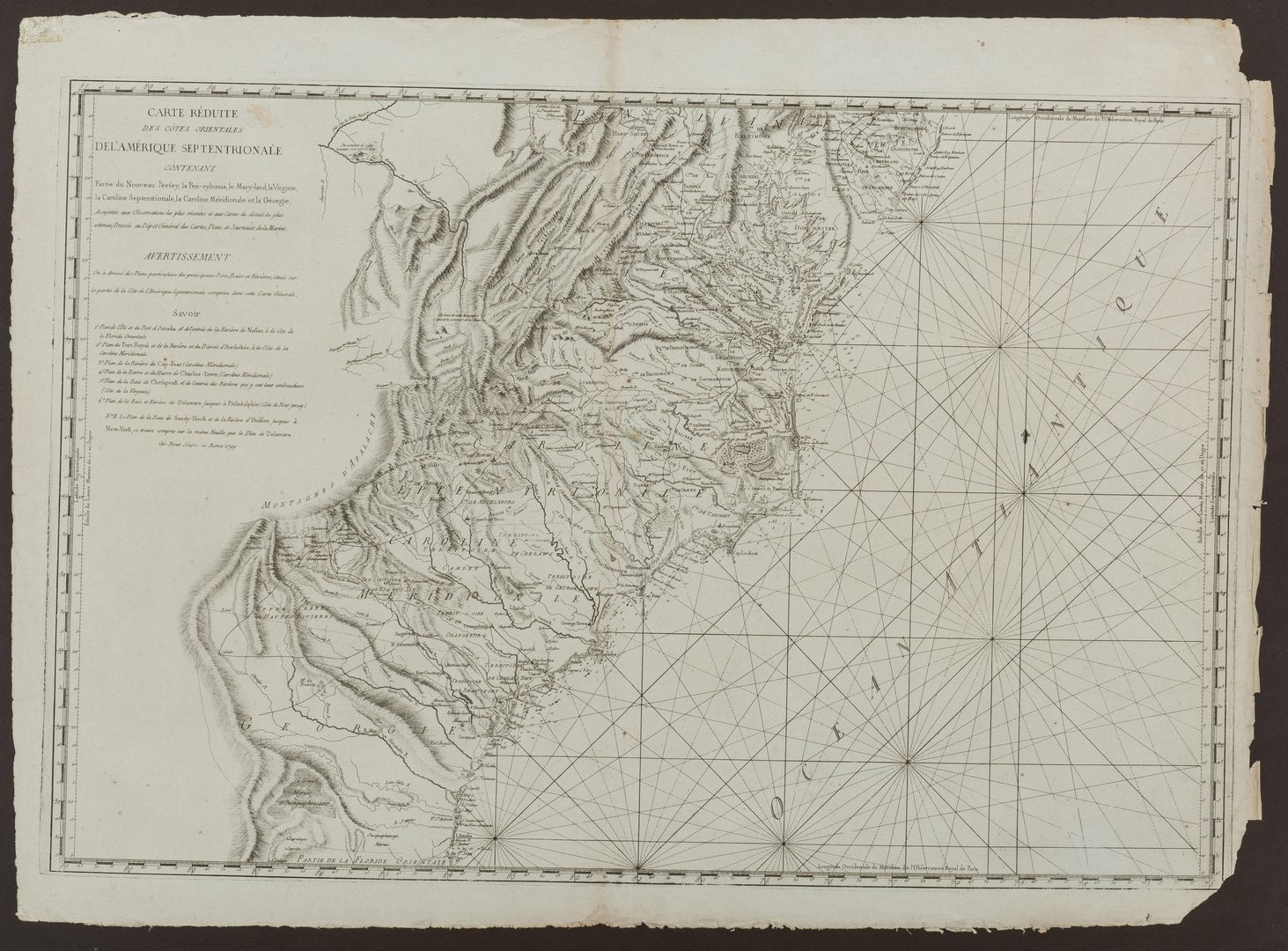Lot 242: Sartine Map of North America, Italian Ed., 1799