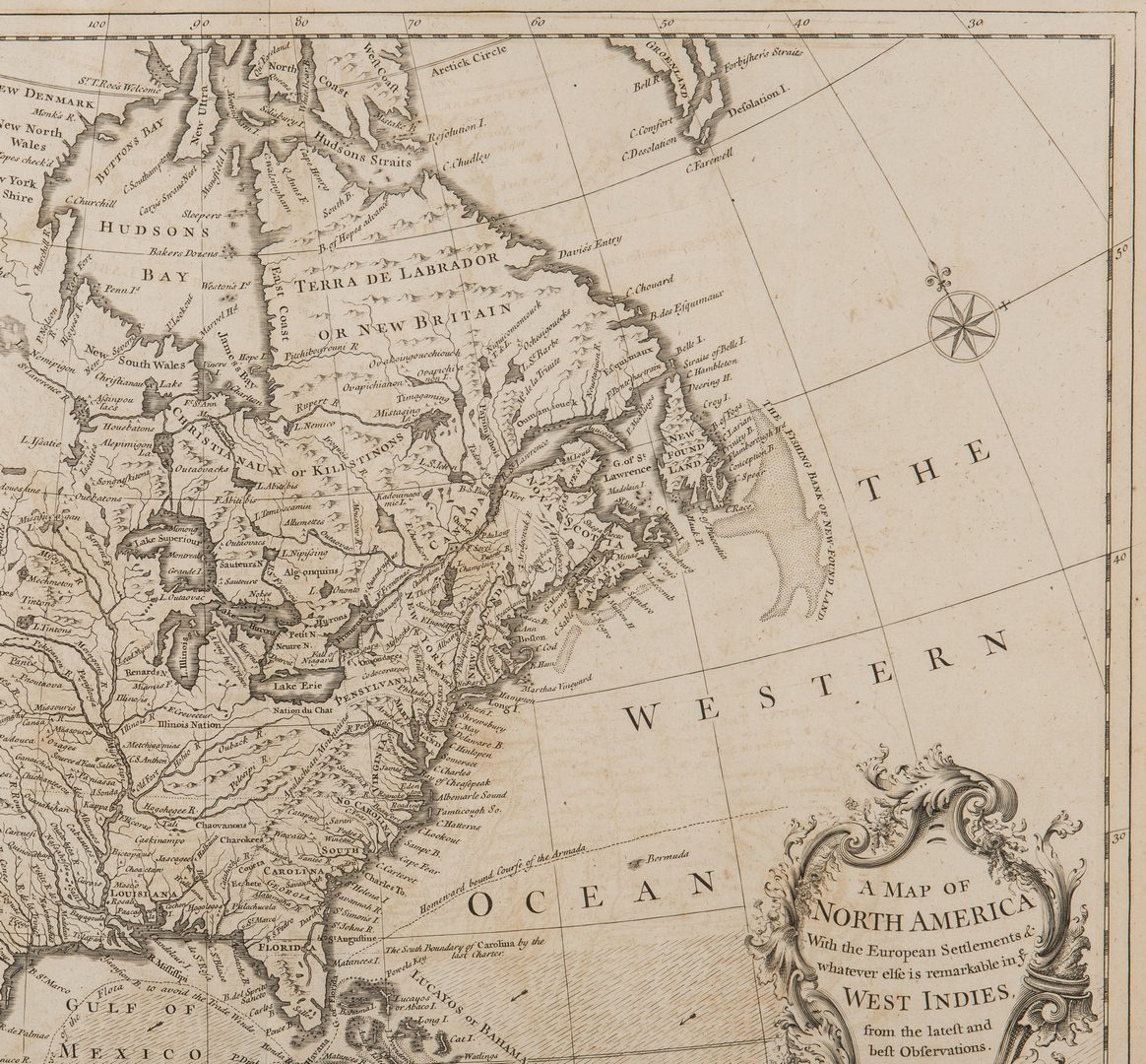 Lot 243: R.W. Seale, Map of North America, 1745