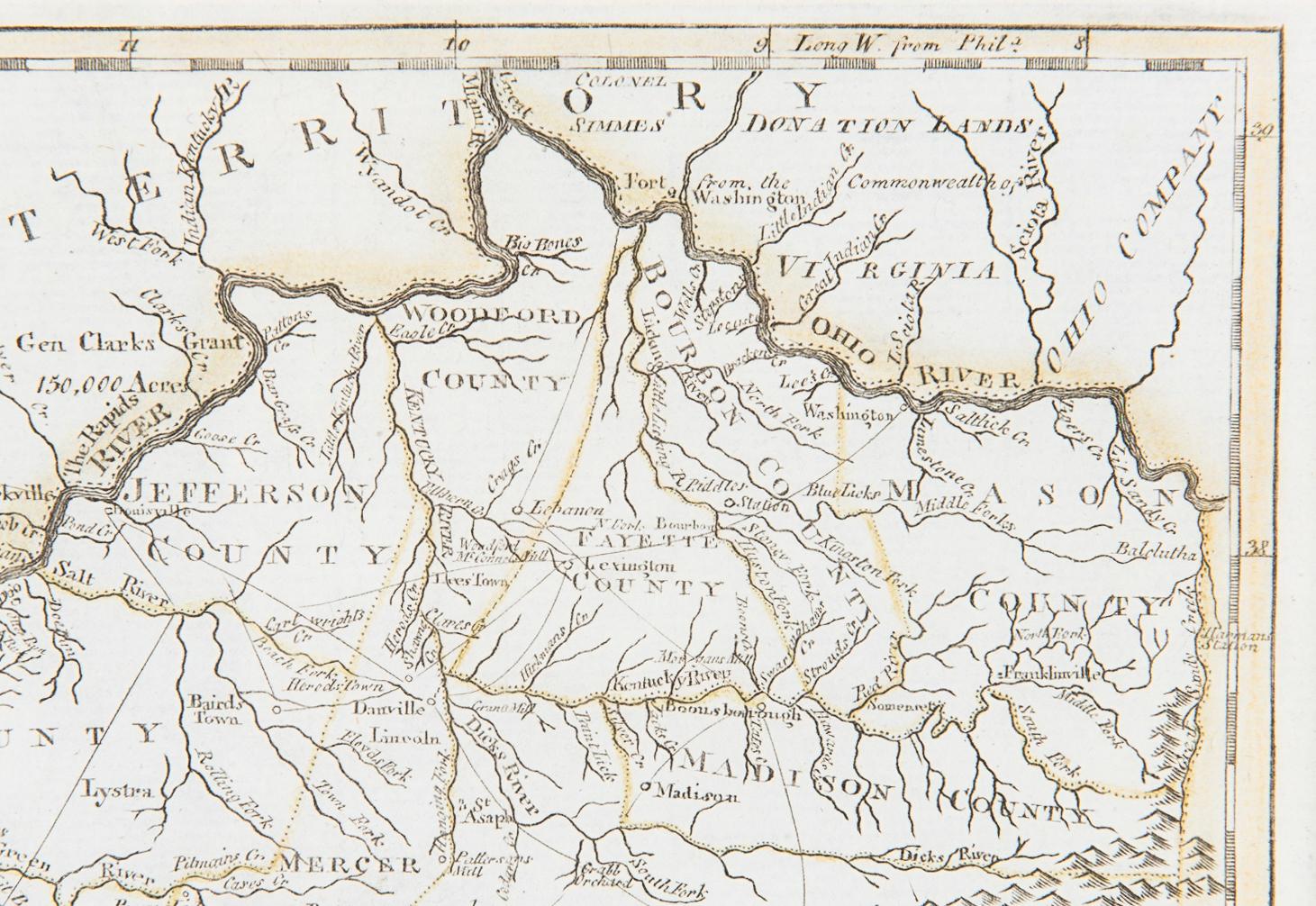 Lot 247: John Payne Kentucky Map, 1800