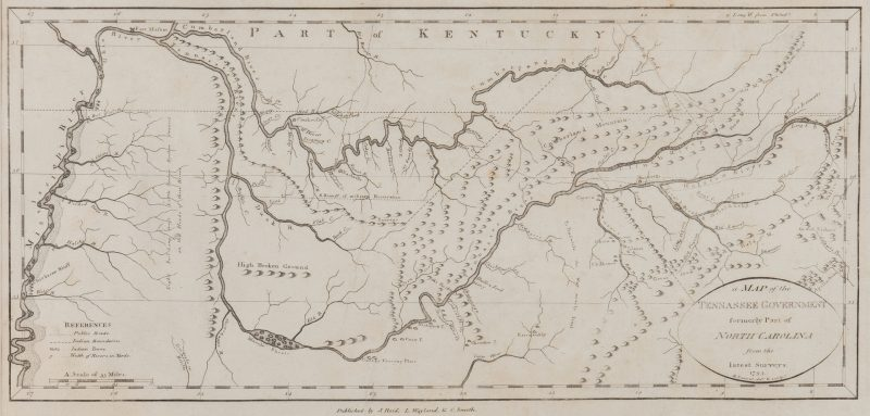 "Lot 250: 1796 Tanner Map of ""Tennassee"""