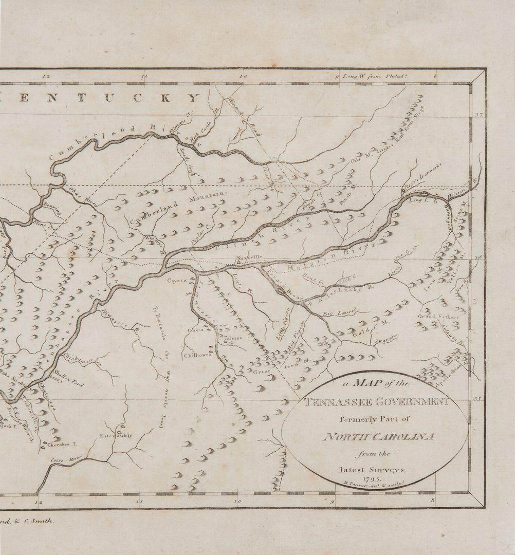 "Lot 250: 1796 Tanner Map of ""Tennassee"""